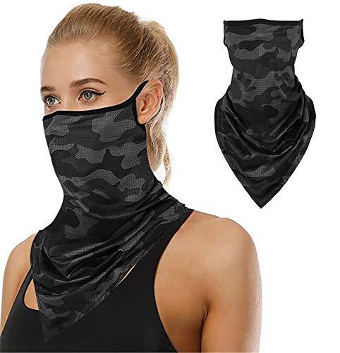 Face Scarf Bandana Ear Loops Face Balaclava Neck Gaiters Men Women for Dust Wind Motorcycle Mask (Pattern #48)