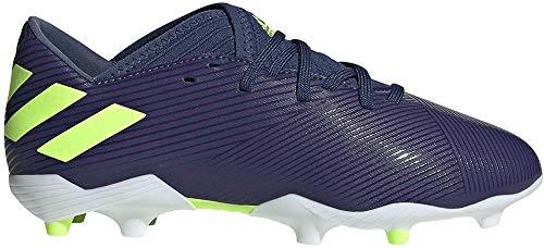 Adidas Nemeziz Messi 19.3 FG J, Zapatillas Deportivas Fútbol Unisex Infantil, Morado (Tech Indigo/Signal Green/Glory Purple), 33 EU