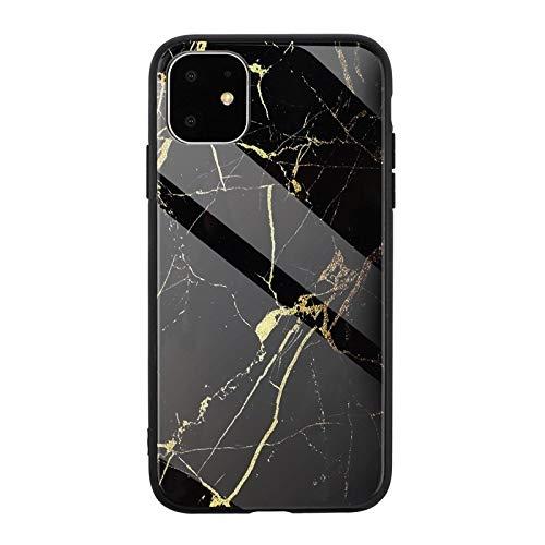 Vidrio templado contraportada Compatible con el iPhone 11 6.1 Caso de mármol...