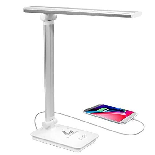 Lámpara Escritorio LED,Lámpara de Mesa USB regulable Recargable ...