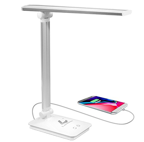Lámpara Escritorio LED,Lámpara de Mesa USB regulable Recargable (Cuidado Especial Para los Ojos, 5 modos de colores x 3 niveles de dimmer, Control táctil, bajo consumo de energía): Amazon.es: Iluminación