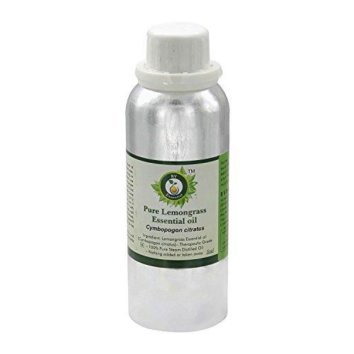 R V Essential Pura hierba de limón 300ml de aceite esencial (10 oz)- Cymbopogon citratus (100% puro y natural de Grado Terapéutico) Pure Lemongrass Essential Oil