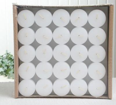 50er-Nachfüllpack Teelichter - ohne Aluhülle - für Glasbehälter