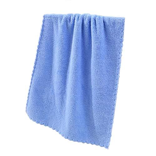 MAWA Toallas De Baño Súper Absorbentes De 10 Colores para Adultos Toallas Grandes Baño Cuerpo SPA Deportes Toalla De Baño De Microfibra De Lujo para Playa - Azul