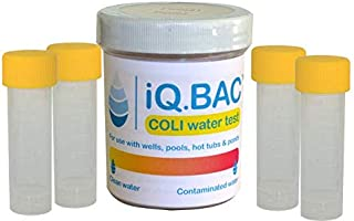iQ.BAC COLI | Water Test Kit | Detect E.Coli & Coliform | Use in Drinking Water, Wells, Pools, Hot Tubs or During Travels | 4 Pack