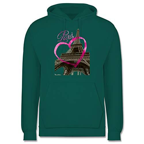 Shirtracer Städte - I Love Paris - S - Türkis - i Love Paris Hoodie - JH001 - Herren Hoodie und Kapuzenpullover für Männer