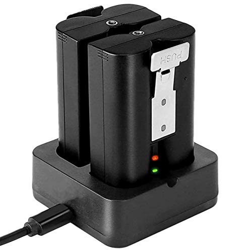 Battery Charger Station Compatible with Ring Video Doorbell 2 & 3 & 3Plus, Spotlight Cam Battery, Peephole Cam & Stick Up Cam Battery, Portable Dual Port Charging
