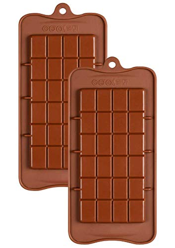Silicone Break-Apart Chocolate, Protein and Energy Bar Mold Set of 2