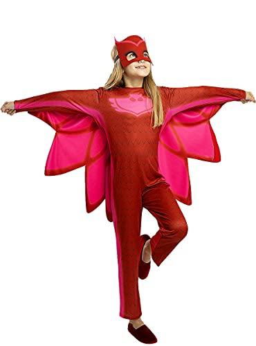 Funidelia | Disfraz de Buhíta PJ Masks Oficial para niña Talla 5-6 años ▶ Dibujos Animados, Gatuno, Buhita, Gekko - Color: Rojo - Licencia: 100% Oficial