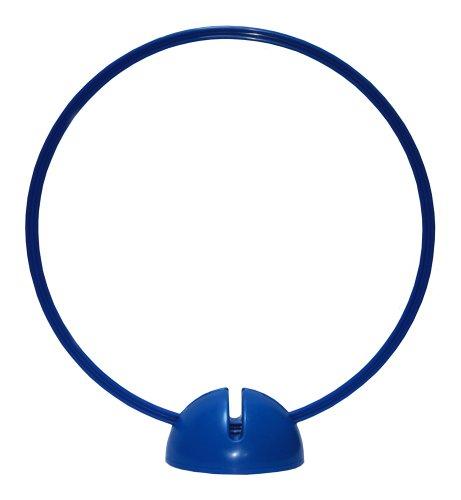 Agility Dog - Piedistallo a X, blu e anello/cerchio Ø ca. 50 cm, blu