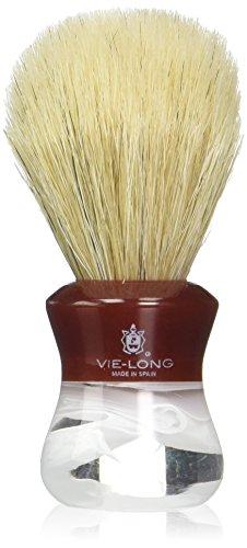 Vie-Long PB14080 Special Horse Hair Shaving Brush, Red/White Acrylic Handle