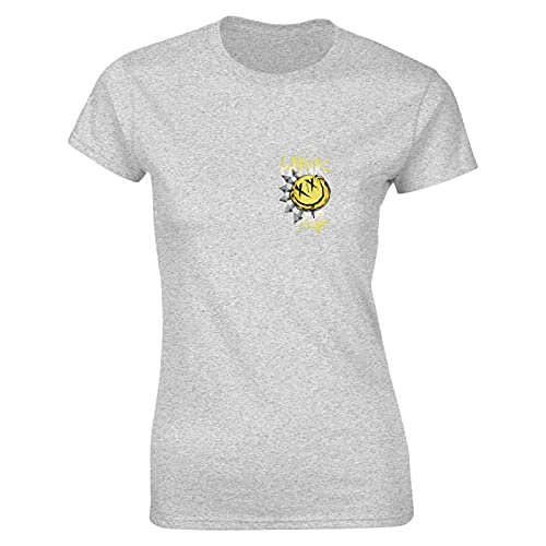 Blink 182 T Shirt Gray M Women T-Shirt aus Baumwolle für Damen Kurzarm Womens Tshirt Rundhalsausschnitt
