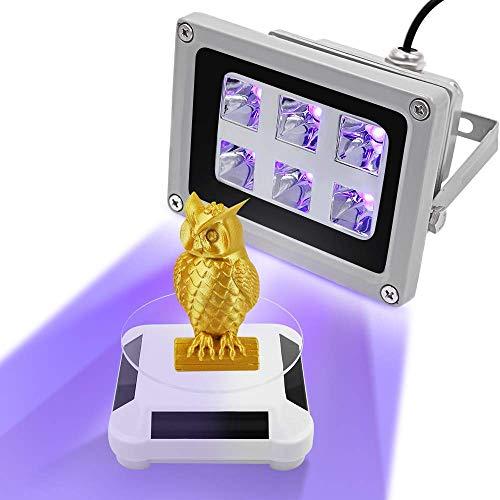 Resina UV per stampante 3D indurente la luce con espositore solare che può essere ruotata per le stampanti SLA/DLP 3D, per Solidificare la resina fotoensibile, resina UV di polimerizzazione 405 nm