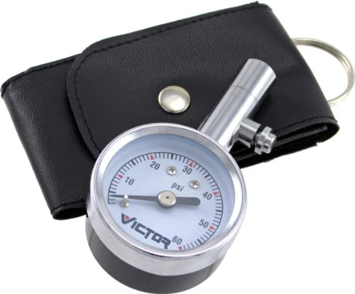 Victor 22-5-60023-8 Mini Dial with Bleeder Valve Tire Gauge, Multi, One Size