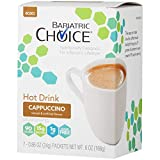 Bariatric Choice High Protein Drink / Instant Low-Carb Hot Drink Mix - Cappuccino (7 Servings/Box) - Low Carb, Sugar Free, Low Fat