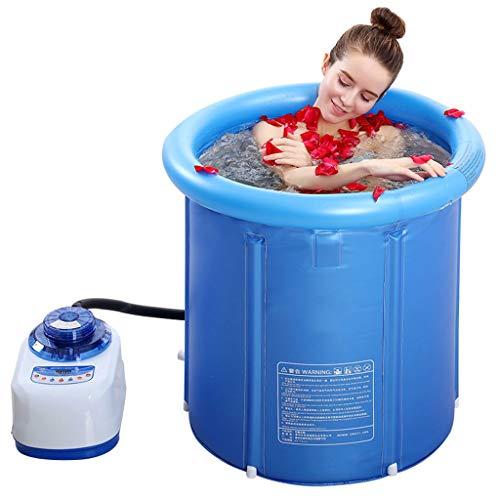 YXYH Remojo Multifuncional Bañera SPA Bubble Surf Sauna De Vapor 2.8L Sauna De Temperatura Fumigación Máquina Hogar Interior Terapia Adelgazamiento Corporal Cuerpo Completo (Size : 80 * 80cm)
