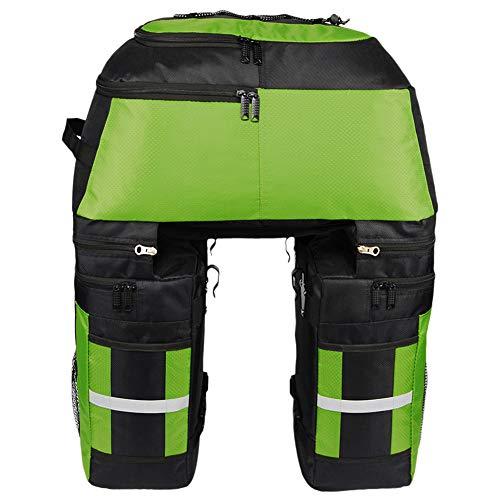 NBHBSZY 80L 3 In 1 Fahrrad-Rücksitz-Kofferraumtasche, Nachtreflexions-Warnstreifen, aus Ripstop-Polyester, langlebig, wasserdicht, leicht und tragbar, leicht zu reinigen