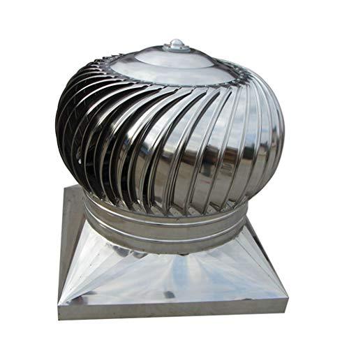 LTLCBB Extractor de Humo pivotantes, Aspirador Sombrero eolico para chimeneas Estufa de Acero Inoxidable, Base Cuadrada, Todas Las Dimensiones