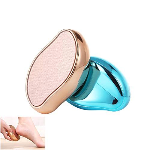 Accevo 2er-Set Nano Glas Hornhautentferner, Zweifarbiges Fußpflege set, Effiziente Hornhaut Entfernung, Die wissenschaftliche Methode der fusspflege, Ostern Geschenke für frauen