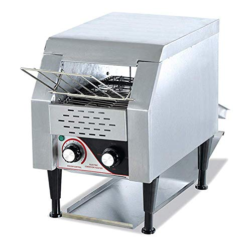 Gewerbe Conveyor Toaster, 180 Scheiben/h Edelstahl 1500W Compact Elektro Heavy Duty Förder Toasten Brot-Maschine für Restaurant Frühstück Sliver