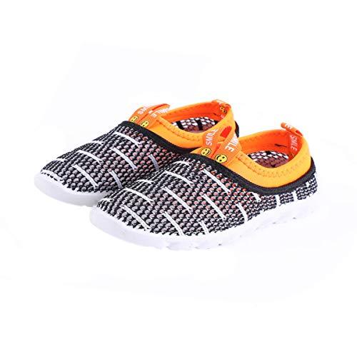 DEBAIJIA Zapatos para Niños 1-4T Bebés Caminata Raya Malla Ahuecada Niña pequeño Suela...