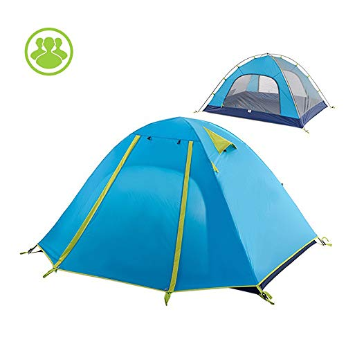 Tents Family Camping, Outdoor 3 Person Ultralight Waterproof Double-layer For Outdoor Camping Family Beach Hunting Hiking Travel 0630 (Size : Blue)