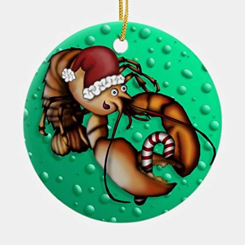 McC538arthy Christmas Santa Hat Ornaments, Lobster Claus, Ornament Hanging Ornament Xmas Tree Decor Gifts 3''