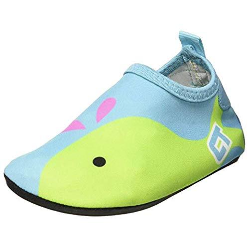 SITAILE Aquaschuhe Barfuß Schuhe Schwimmschuhe Badeschuhe Wasserschuhe Surfschuhe Sportschuhe für Kinder,A-blau,EU22/23