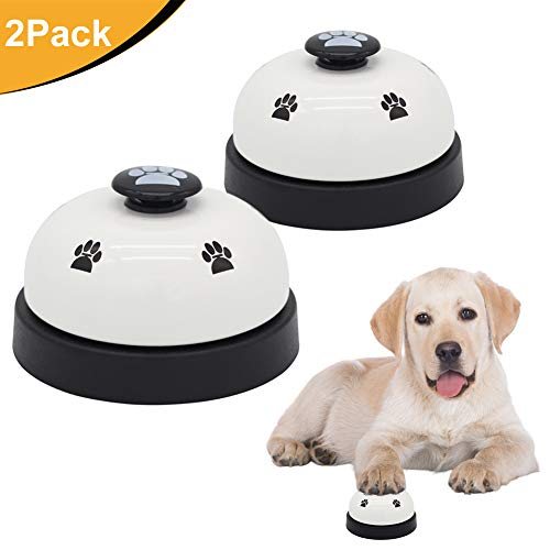 AK KYC 2 Pack Dog Ring Bell Pet Training Bell Doggie Potty Training for Puppies and Device Interactive Toys for Kitchen Counter Reception