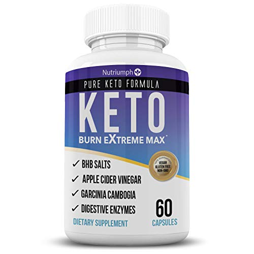 Keto Burn Extreme Max Fat Burner Diet Pills- Ketogenic Weight Loss for Women and Men- Ketosis Supplement with BHB Salts & Apple Cider Vinegar- 30 Day Supply