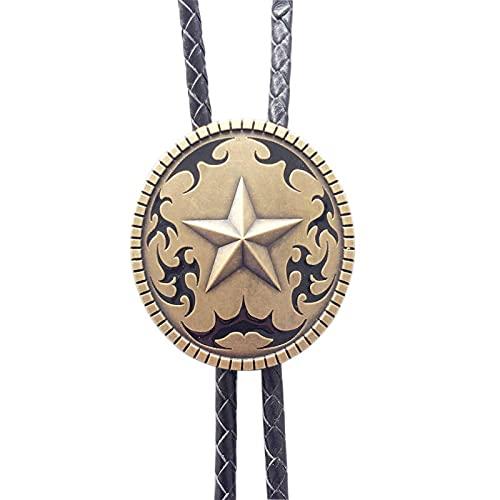 Wuyuana bolo tie bronce plateado original occidental estrella oval boda bolo lazo collar de cuero bolo corbata consejos
