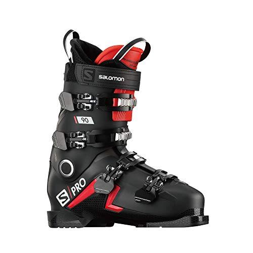 SALOMON Botas Alpinas S/Pro 90, esquí Hombre, Black/Red/BELLUGA, 47/48 EU