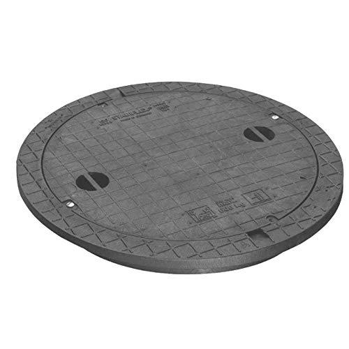 Schachtabdeckung STABIFLEX Abdeckung NewEdition-600kg-Typ1 (mit Griffmulden) Kanaldeckel Zisternendeckel Abdeckung Zisterne Schacht leicht Kunststoff PE