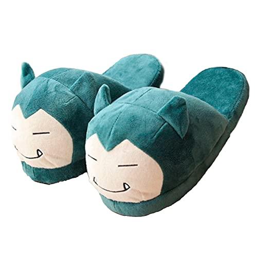 Zapatillas de Estar Por Casa - Pantuflas Pokemón Super Divertidas y Cómodas - Talla Única - Originales - Regalo Divertido y Único (SNORLAX)