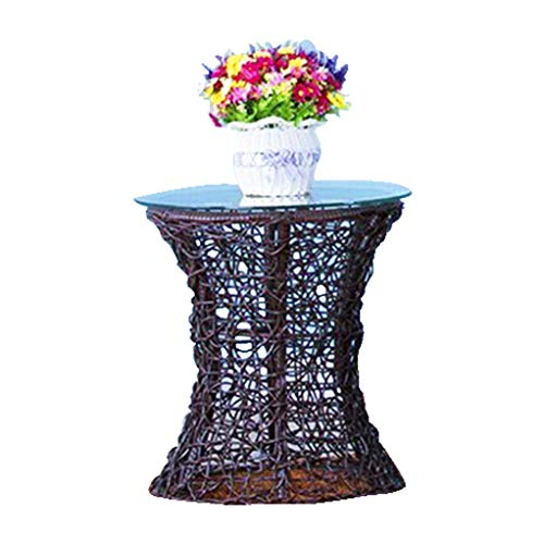 HNWNJ - Sedia a dondolo per interni con balcone singolo in rattan, per appendere la sedia a dondolo, per camera da letto, per studenti e studenti, colore: Caffè (tavolino))