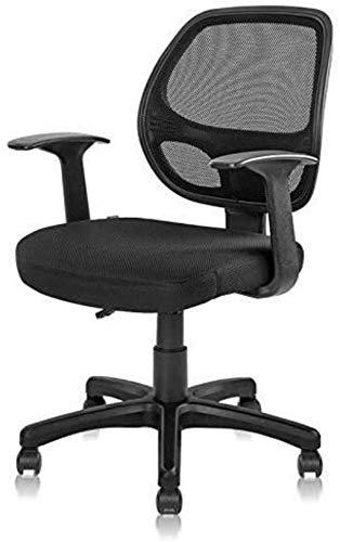 XiYou Drehbarer Bürostuhl Executive Manager Arbeitsstuhl Schwammpolsterung Netzrücken Drehbarer Schreibtischstuhl Computer-Bürostuhl Sessel