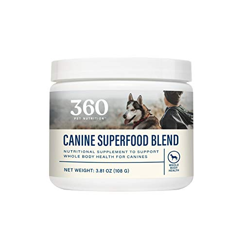 360 Pet Nutrition Canine Superfood Blend, Beef Flavored Meal Topper to Support Whole Body Health, 30 Servings