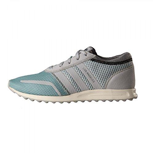 adidas Herren Los Angeles Sneakers, Blau Neon, Mehrfarbig (Cool aqua-grey-mid grey), 44 2/3 EU