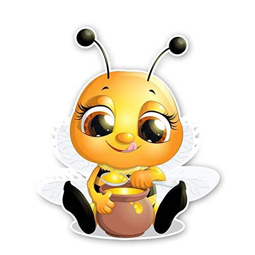 CTMNB Auto-etiket 13,7 cm x 15,9 cm bijen eten honing sticker PVC