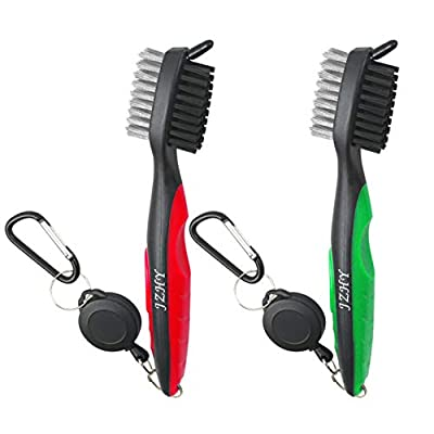 JZHY Golf Club Brush and Club Groove Sharpener Cleaner Tool Set with 2 Ft Retractable Zip-line and Carabiner? Great Golf Gift, A Must Have Kit for Golf Club Bag Accessories