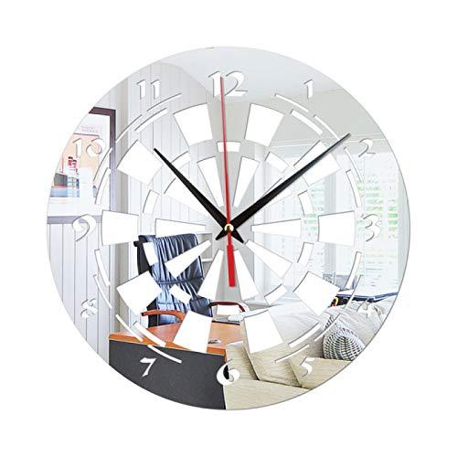 gongyu Adesivi murali creativi Orologio Freccette Obiettivo Decorazione della casa Specchio Soggiorno Camera da Letto Specchio Acrilico Adesivo da Parete Orologio da Parete