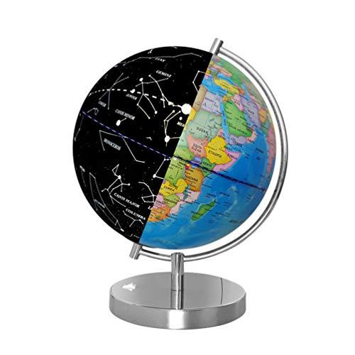 NUOBESTY LED Konstellation Globus Beleuchtet Weltkugel mit Stand Desktop Globus Nachtlicht Lampe Pädagogisches Lernspielzeug für Erwachsene Kinder