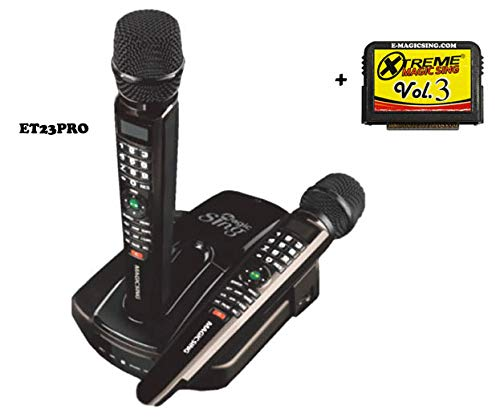 Buy Discount Magic Sing ET23Pro w/2 Wireless Mics Karaoke BUNDLE · 10,000+ English Songs WI-FI, Ext...