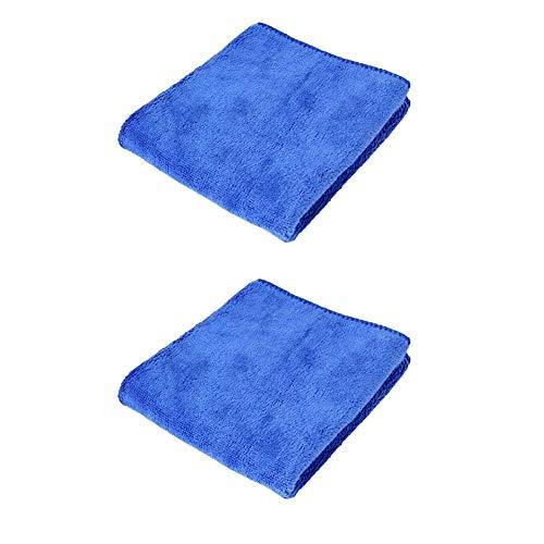 YSHtanj auto schoonmaken handdoeken auto schoonmaken en onderhoud handdoek 2 Stks 360gsm microvezel zacht water absorptie auto wassen handdoek schoonmaken doek - blauw