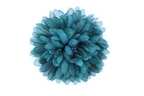 Flore de Tela con Broche 'Alexia' (Teal)