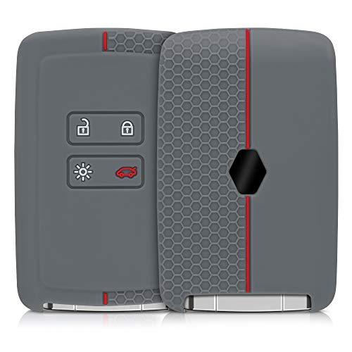 kwmobile Funda de Silicona Compatible con Renault Llave de Coche Smart Key de 4 Botones (Solo Keyles