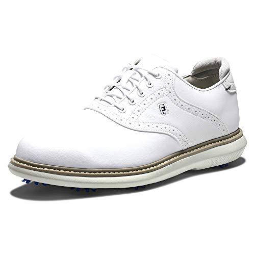 Footjoy Traditions, Scarpe da Golf Uomo, Bianco, 42.5 EU