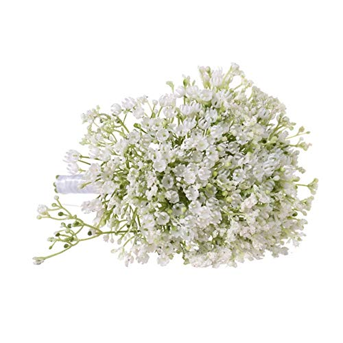 Roovtap Plastikblumen Gypsophila Plant Simulation Bouquet High-End-Dekoration Getrocknete Blumen Fake Flowers Hauptdekorationen Dried Flower (Color : Green) - 2