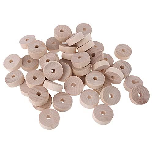 50 piezas de cuentas de madera Smiley Toy Mini Abacus Beads BPA Free Baby Teether DIY Chupete Cadena para pulsera de madera en blanco mordedor de bebé sin bpa