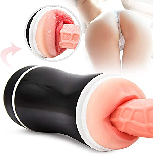 2 in 1 Double Function Design Põckët Püssý Cup Vâginâ Sẹx Tóys Waterproof 3D Realịstịc Mástǚrbátor CṺp Tight Pôçkët Pûšsý Sleeve for Men G-ây with Ultra Soft Huge ḎìlÐɔ Torso for Men